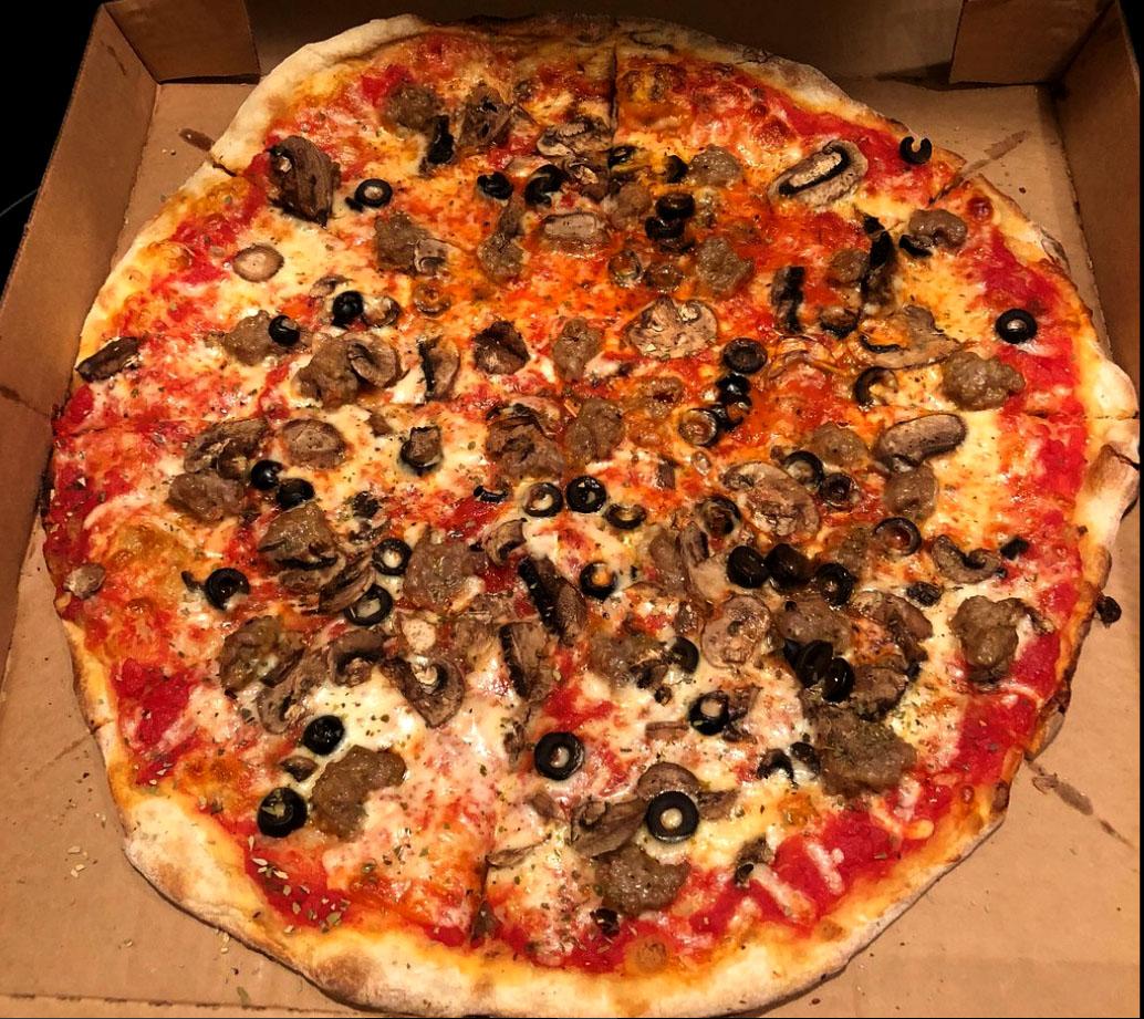 mushroom Olive Pizza