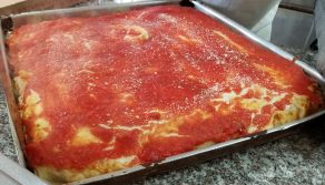 sicilian pizza large thick crust pizza